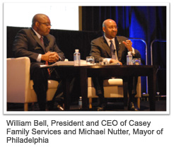 William Bell, President and CEO of Casey Family Services and Michael Nutter,  Mayor of Philadelphia