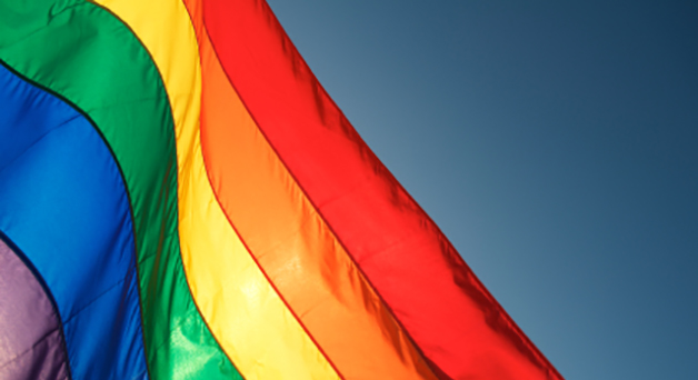 Rainbow-colored flag