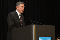 Gil Kerlikowski, Director of the White House Office of National Drug Control Policy, delivers closing remarks on Day 1