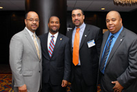 Kevin Jennings, Office of Justice Programs, U.S. Department of Justice; The Honorable Ed Stanton, U.S. Attorney for the Western District of Tennessee; Chris Mallette, Director, Community Safety Initiatives, Mayor's Office, City of Chicago; and  Ray Anderson, Federal Legislative Representative, Chicago Public Schools.