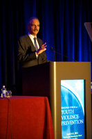 The Honorable Eric H. Holder, Jr., Attorney General of the United States, delivering opening remarks on Day 2 of the Summit on Preventing Youth Violence