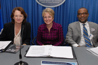 Acting Assistant Attorney General Mary Lou Leary, Acting Administrator, Office of Juvenile Justice and Delinquency Prevention, Melodee Hanes, and Commissioner of the Administration on Children, Youth and Families, Bryan Samuels
