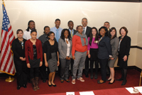 Young people from the six Forum cities meet with Attorney General Eric Holder, Assistant Attorney General Mary Lou Leary, and Congressman Robert Scott
