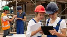 Youth working on a job site