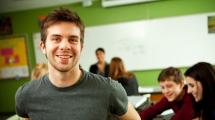 Teen in a class room