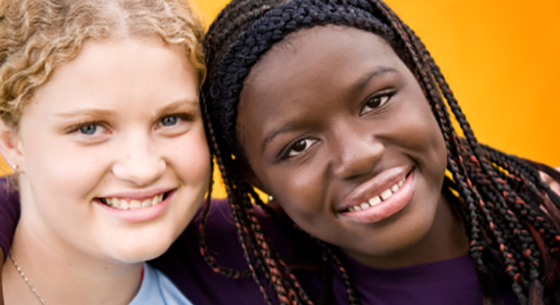Two female youth representing positive youth development